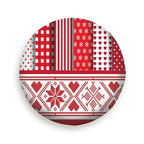 Spare Tire Cover Christmas Digital Scrapbooking Paper Swatches Red Holidays Polyester Water Proof Dust-Proof Universal Spare Wheel Tire Cover Fit for Jeep,Trailer, Rv, SUV and Many Vehicle