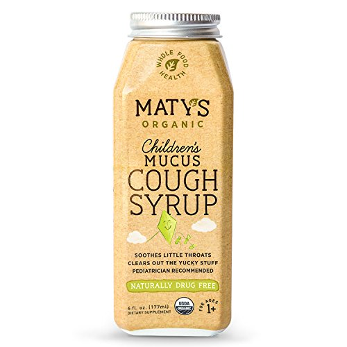 Matys Organic Children's Mucus Cough Syrup, 6 Fluid Ounce, Organic Cough Remedy, Soothes Throats & Thins Mucus With Organic Honey, Ginger & Immune Boosting Ingredients, Helps Ease Common Cold -