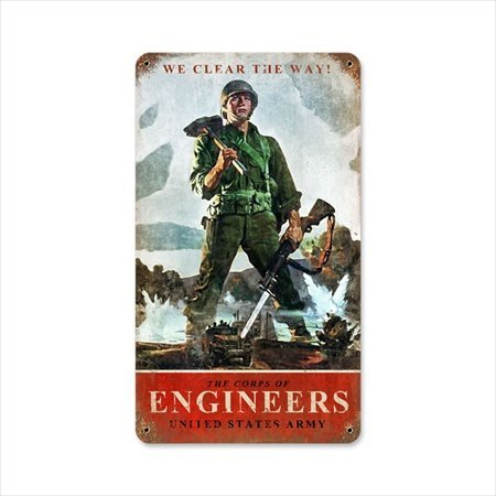 Past Time Signs HA055 Army Corps Engineers Allied Military Vintage Metal Sign from Past Time Signs