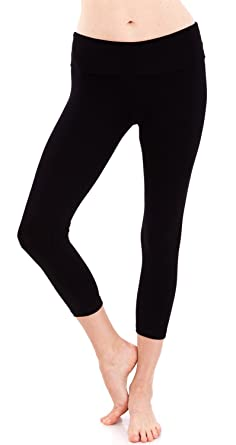 Amazon.com: Women's Slimming Foldover Capri Crop Yoga Pants: Clothing