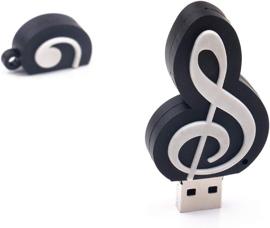 FAgdsyigao Creative Musical Note U Disk USB Flash Drive Memory Stick for PC Computer Notebook White 64G