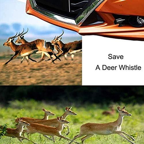 VOSAREA 4 Piezas Silbato de Ciervo para Dispositivos de Advertencia de Ciervos de autom/óviles para veh/ículos Motocicletas Accesorios de Seguridad para autom/óviles