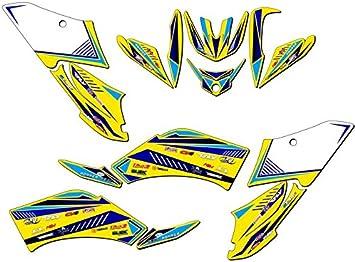 Surge Grey Graphics Kit Senge Graphics kit compatible with Yamaha All Years Raptor 125