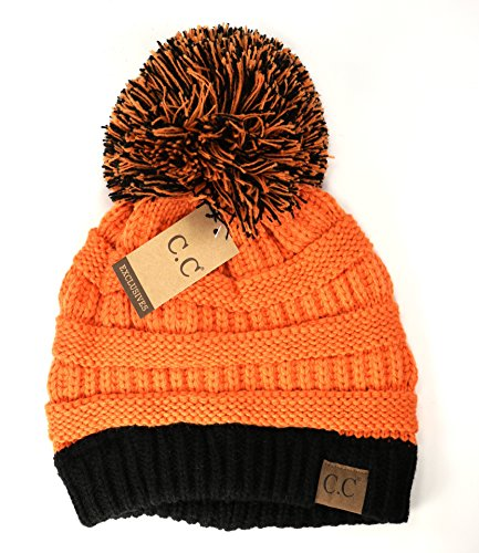 547b3c0b0fa21 Crane Clothing Co. Women s Game Day CC Beanies One Size Orange Black