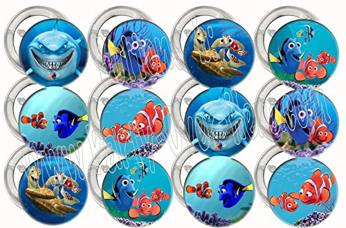 Finding Nemo Buttons Party Favors Supplies Decorations Collectible Metal Pinback Buttons, Large 2.25