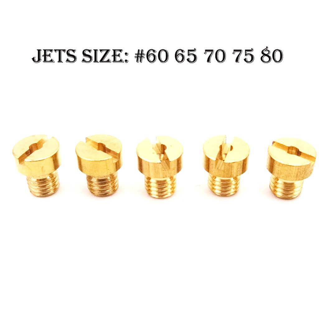 XLYZE 5mm Carburador de repuesto Jets # 60 65 70 75 80 para Dellorto SHA PHBG Carb Tomos A35 Targa LX Sprint