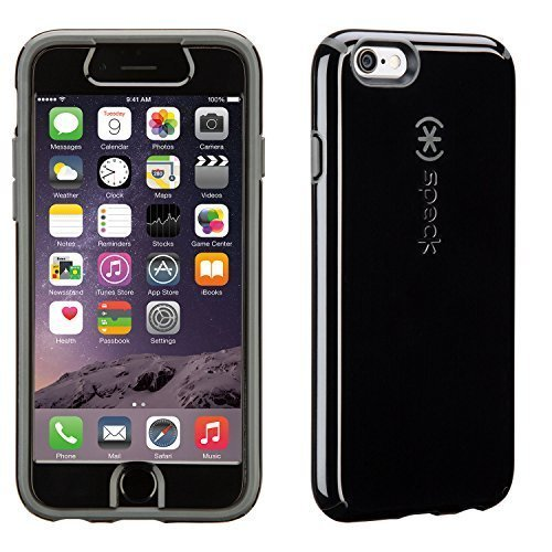 Speck Products CandyShell + FACEPLATE Case for iPhone 6/6S - Retail Packaging - Black / Slate Grey