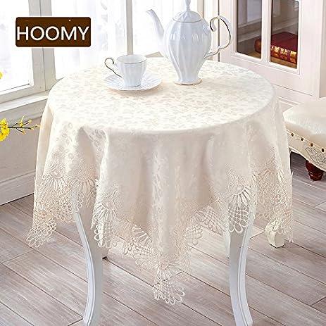 Amazon hoomy european style small tablecloth off white lace hoomy european style small tablecloth off white lace table covers for bedside table jacquard floral watchthetrailerfo