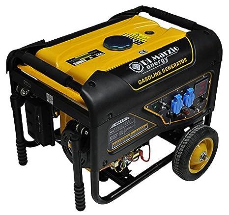 Generador eléctrico 3KW - Gasolina - Grupo electrógeno - Arranque eléctrico con control remoto: Amazon.es: Jardín