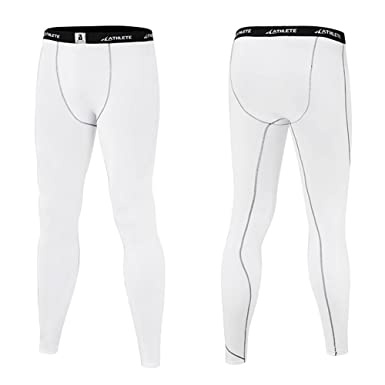 aa81fcbfa064 Mens Boys ATHLETE Smart Sports Long PANTS Base Layer Lightweight  Compression Leggings Skins Cycling Running Gym Tights ( White - 2X-Large ):  Amazon.co.uk: ...
