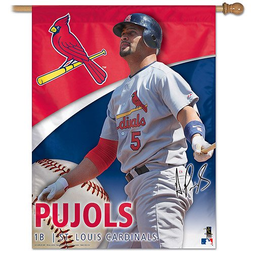 MLB St. Louis Cardinals Mlb 27-by-37 inch Vertical Flag