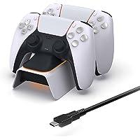 Carregador controlador PS5 YOOXI, carregador de controle PS5 compatível com indicador LED, proteção de chip de segurança…