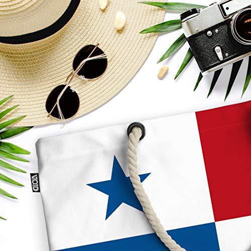 VOID XXL strandväska Panama Panamaer Shopper väska 58 x 38 x 16 cm 23 L Beach Bag Panama Panamanian