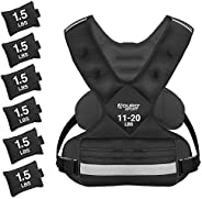 Aduro Sport Adjustable Weighted Vest Workout Equipment, 4-10lbs/11-20lbs/20-32lbs/26-46lbs Body Weight Vest fo