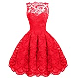 Lace Sleeveless Mesh Pleated Skater Tunic Midi Women Formal evening Prom Dress