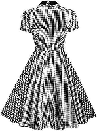 Lingswallow Womens Casual High Waisted Slim Fit Grey Lattice Midi Pleated Dress