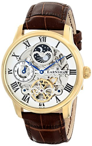 Thomas Earnshaw Men's ES-8006-02 Longitude Analog Display Automatic Self Wind Brown Watch