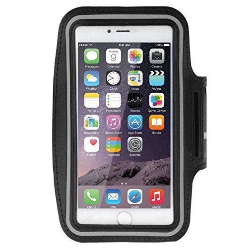 DFV mobile - Armband Professional Cover Neoprene Waterproof Light Reflecting Wraparound Sport Buckle NNJOO PRO 2 > Black -  DF-FbHAWE-PLS-N-C1-241