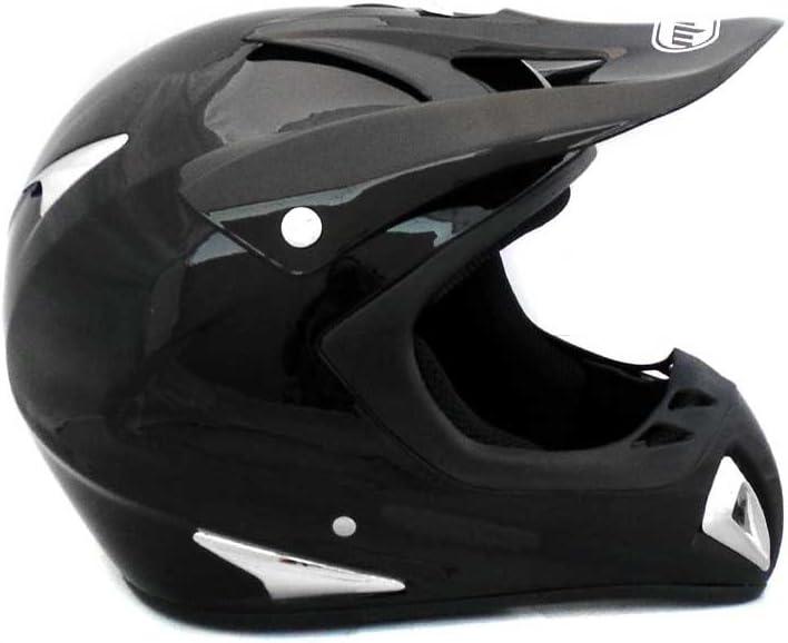 MMG 27 Adult Motorcycle Helmet Off Road MX ATV Dirt Bike Motocross UTV Includes Goggles Medium Gloss Black