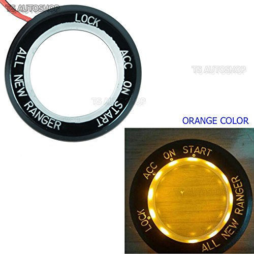 - Orange LED Ring Start Switch On Off Key Remote Trim Cover For Ford Ranger T6 Px2 Mk2 WildTrak UTE 2 Door 4 Door 4WD 2WD 4x4 4x2 Pick-Up Truck 2012 2013 2014 2015 2016 2017