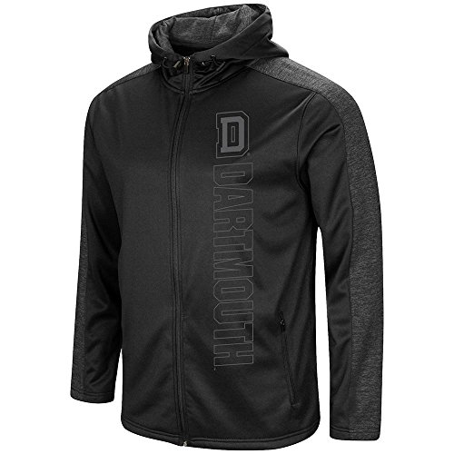 Colosseum Mens Dartmouth Big Green Blackout Full Zip Hoodie - L from Colosseum