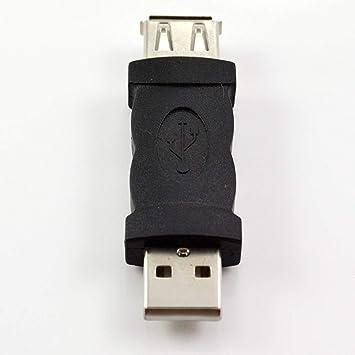 Adaptador Convertidor Universal Hembra a USB M Adaptador para PC Ordenador Portátil Negro: Amazon.es: Electrónica