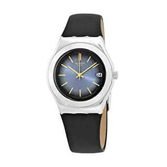 Swatch Mit Armband Analog Uhr Quarz Leder Yls460 Damen WIYbeDH9E2