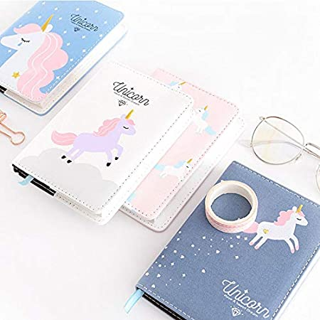 MSYOU Hardcover Notebook Simple Cartoon Cute Cat Style Diary Can Fill Notepad High Quality Thick Paper Divider Record School Office Supplies Blue