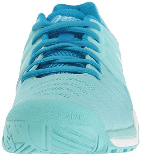 7 De Éclaboussures Blanc Argent Femmes Blanc Résolution Bleu Gel Tennis Nous Diva B 10 Aqua Chaussure Asics 4tUXwq7p4