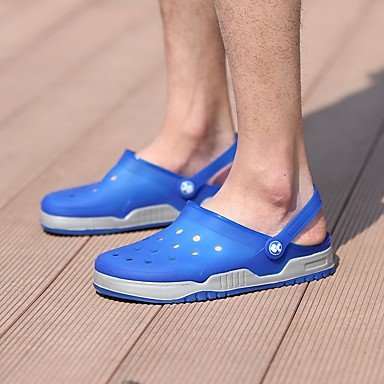 SHOES-XJIH&Uomini sandali Primavera Estate Autunno La comodità del foro luce calzature Suole lattice outdoor casual HeelWater piatto scarpe,verde,US7.5 / EU39 / UK6.5 / CN40