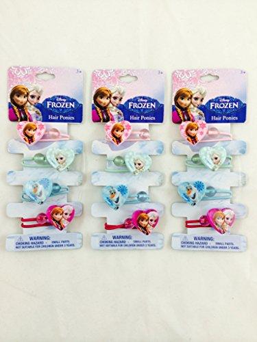 [Disney Frozen Hair Ponies-3 in 1 Pack] (Disney Frozen Hair Clips)