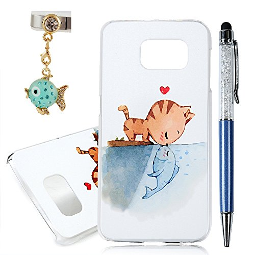 Special Fish (Galaxy S6 Case , YOKIRIN Slim Fit Thin Hard PC Case Special 3D Relief Printing Fish & Cat Love Pattern Design Scratch Resistant Full Protective Back Cover for Samsung Galaxy S6 (2015 Released))