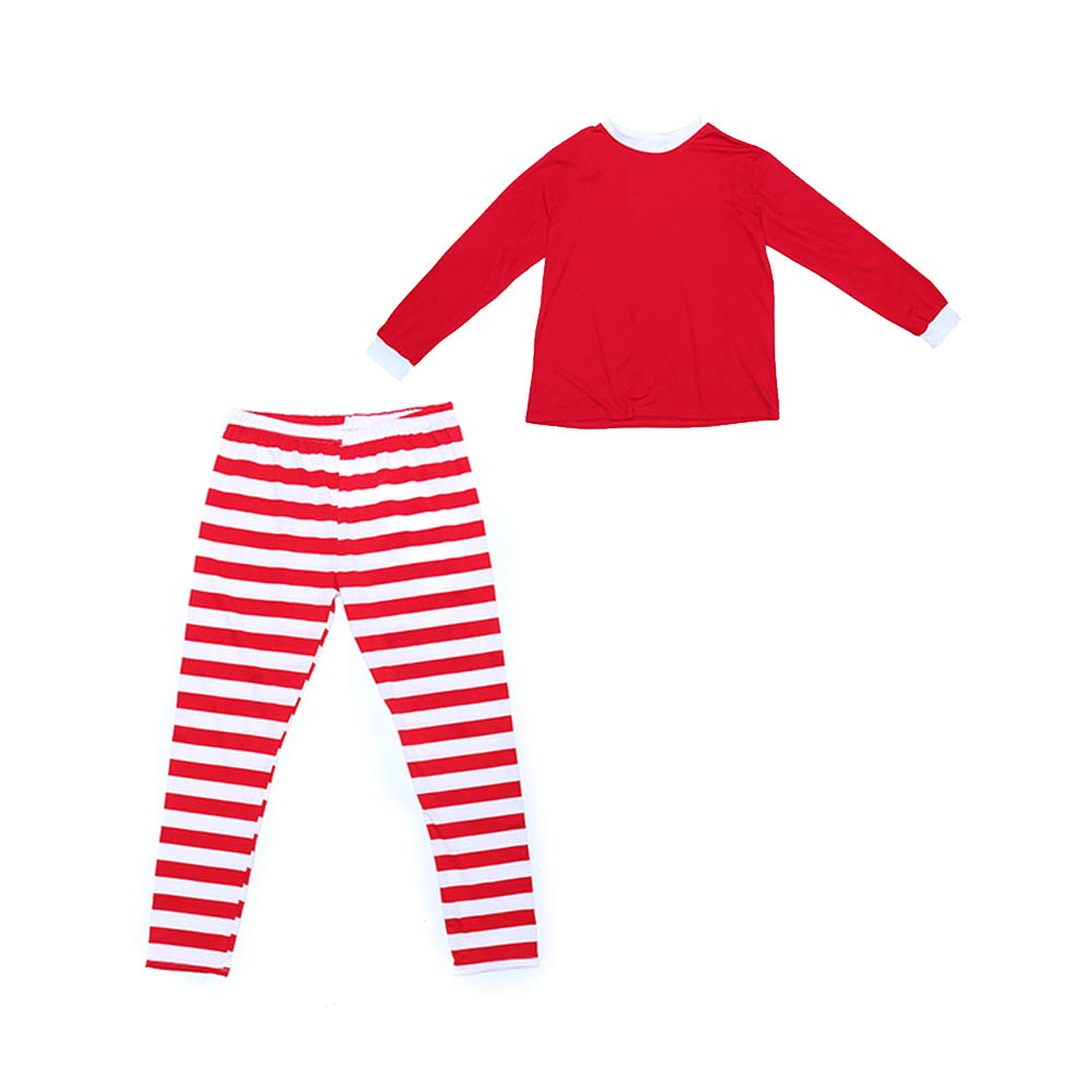 18a4de8795 Christmas Red and White Striped Pajamas Parent-Child Clothes (Children) - Size  4T  Amazon.in  Toys   Games