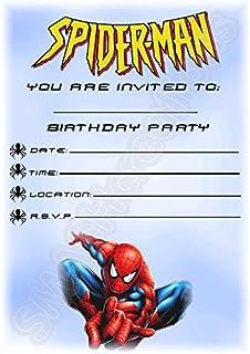 Children S Birthday Party Invitations X 20 Mixed Superhero