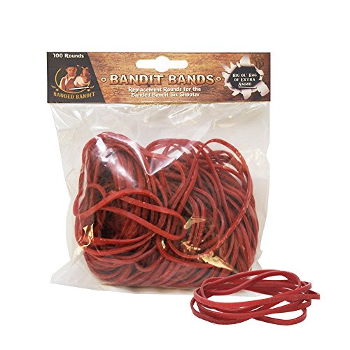 Banded Bandit Bands Rubber Bands for Rubber Band Guns | 100 Sharp Shooting Bullets | 4'' Long x .25'' Wide | Perfect Stretch for Precision Control & Semi-Auto & Rapid Fire Succession