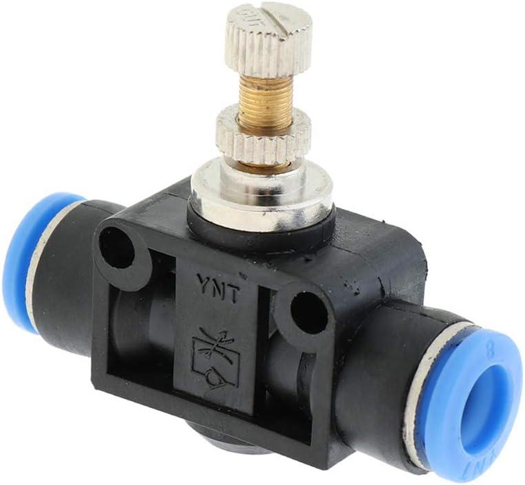 Manuelles Drosselventil Drosselr/ückschlagventil Durchflussregler 4 mm geeignet f/ür Polyurethan und Nylon Rohrer
