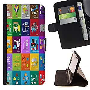 King Case - FOR Samsung Galaxy A3 - treat the life - Prima caja de la PU billetera de cuero con ranuras para tarjetas, efectivo Compartimiento desmontable y correa para la mu?eca