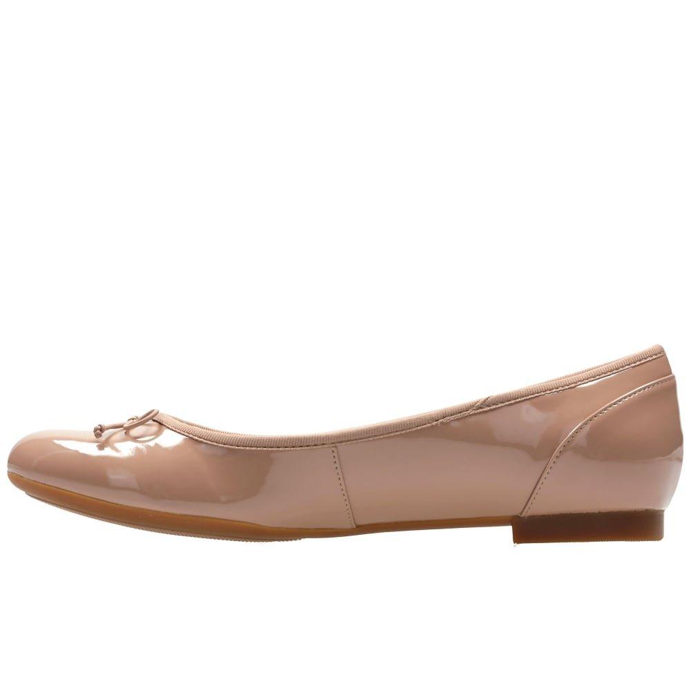 Clarks Clarks Clarks Damen Couture Bloom Geschlossene Ballerinas, Nude Patent ec9492