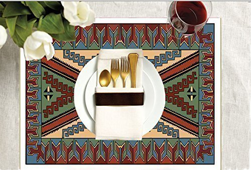 Southwestern Collection-Navajo-Exquisite DIY Adult Coloring Placemats -Set of Four - Placemats Collection