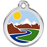 Red Dingo Personalized Mountain Pet ID Dog Tag (Medium)