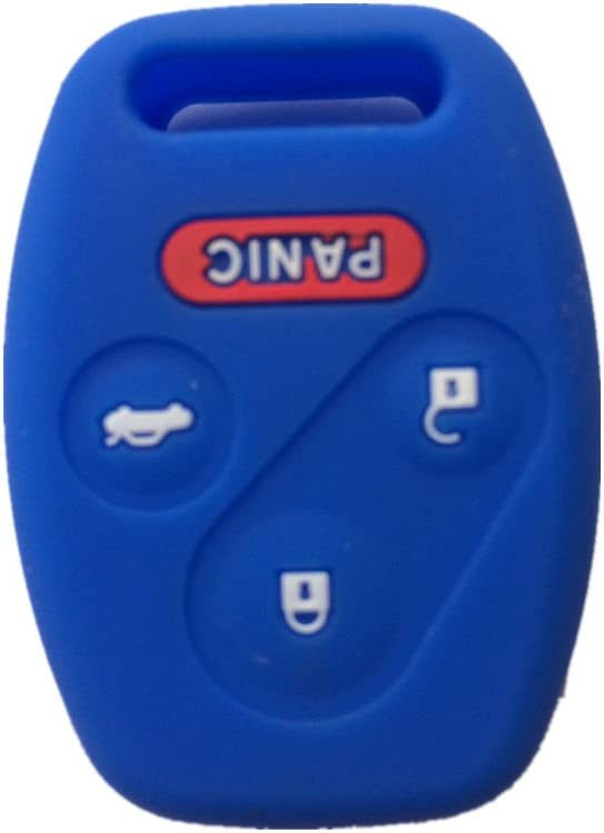 Purple Silicone Rubber Keyless Entry Remote Key Fob Case Skin Cover Protector for Honda 3+1 Buttons