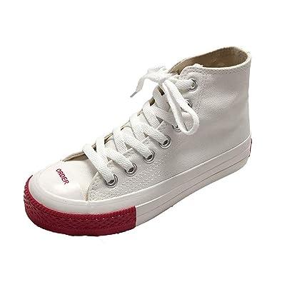794e0e4c88e3b Amazon.com   unyielding1 High Top Canvas Shoes for Women Causal ...