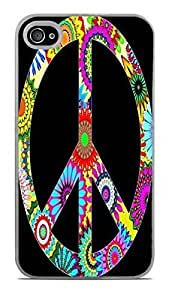 60s Design Peace Sign White Hardshell For Ipod Touch 5 Case Cover