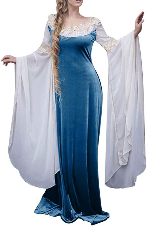 CLOOM Vestidos de Fiesta Gótico Mujeres Falda Medieval Dress ...