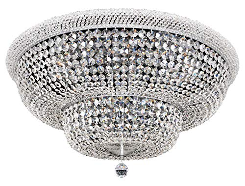 Napoli 34 Inch Flush Mount W/Clear Firenze Chrome