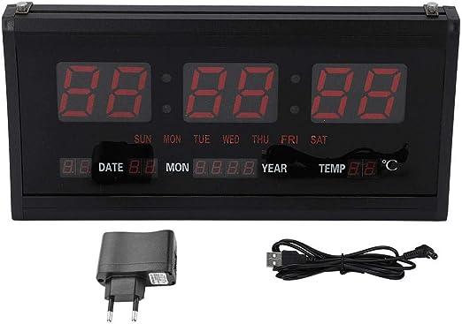 Reloj Digital de Pared LED, Reloj Digital de Montaje en Pared de ...