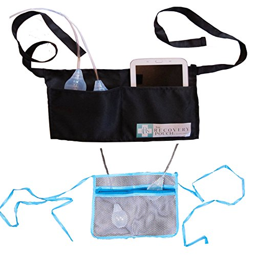 Heal in Comfort Mastectomy Drain Pouches for After Surgery Post Surgical Drain Holder ()