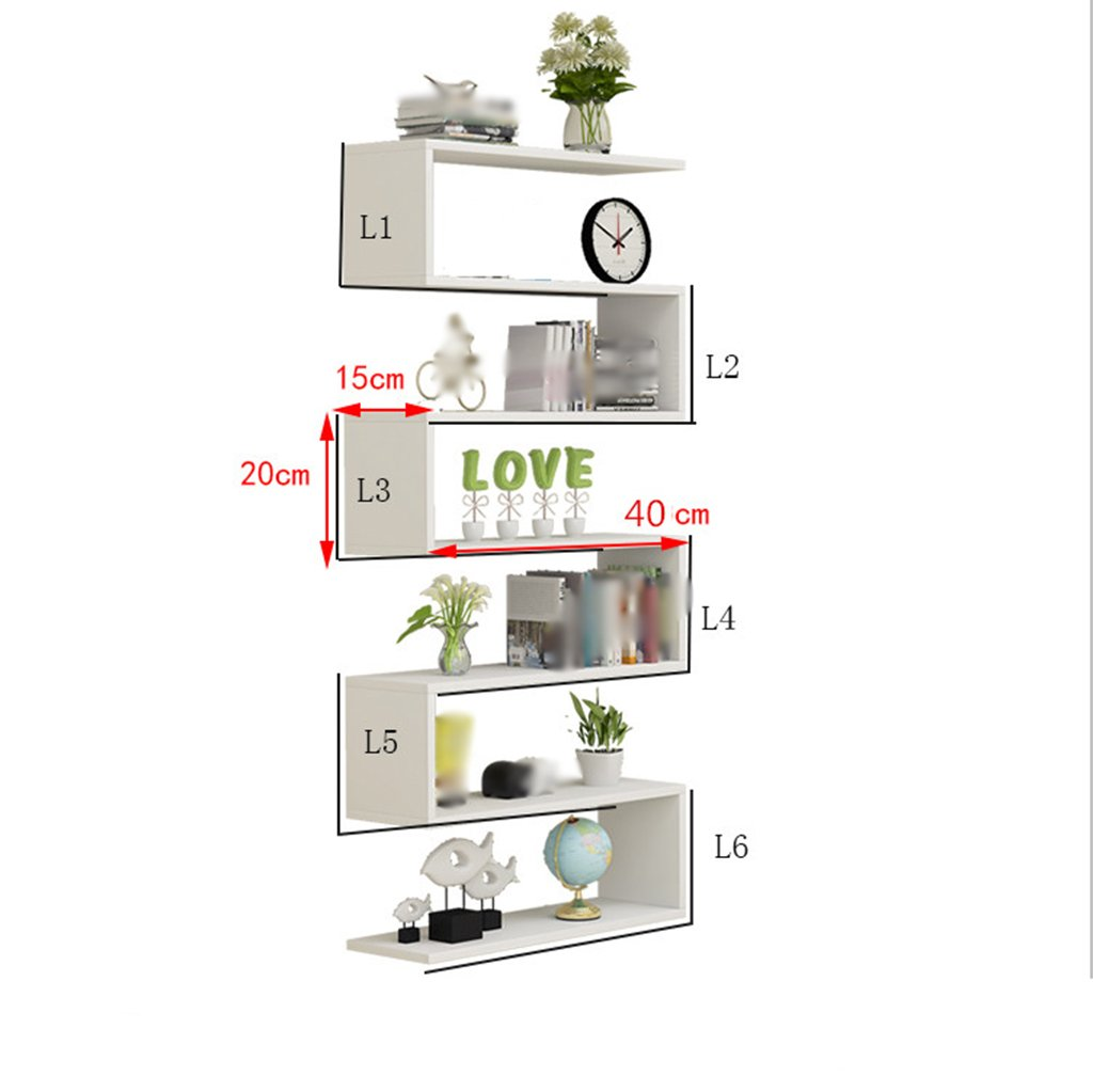 40CM Wall Shelf Living Room Wall Hanging Bedroom Multi-Storey Bookshelf Background Wall Decoration Simple Modern Decorative Partition Shelf (Size   40CM)