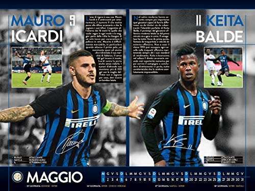 Interit Calendario.Amazon Com Euro Publishing Fc Inter Calendario Orizzontale