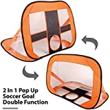 Jack&Baig 2-in-1 Soccer Goal 4 Ft Pop Up Foldable and Portable Soccer Net for Kids Soccer Target with Carry Bag,Perfect for Indoor & Outdoor Sports and Practice